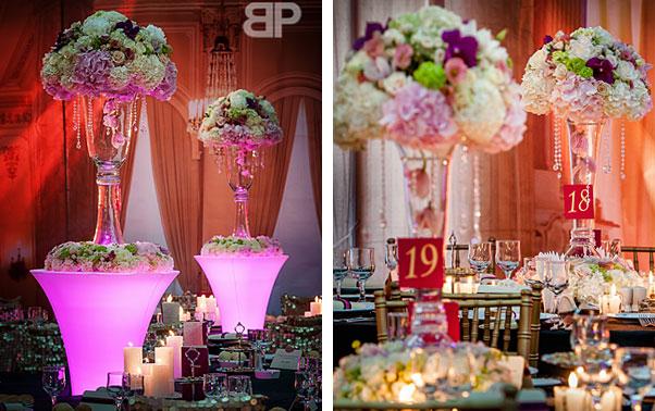 Restaurant nunta Brasov decorat cu ghivece lumini Blitz Party